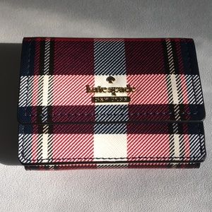 Kate Spade Wallet Cameron St. Rustic Plaid